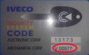 Iveco-Code key