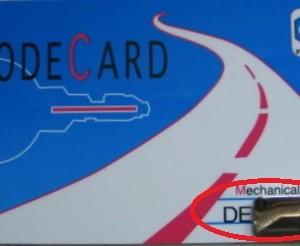 card key piaggio tracer