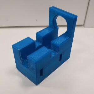 espositore cilindri blu