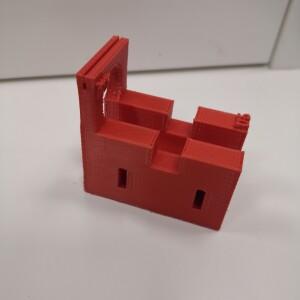 espositore cilindro rosso
