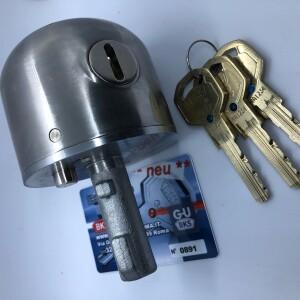 Lucchetto corazzato con 3 chiavi con scheda di sicurezza