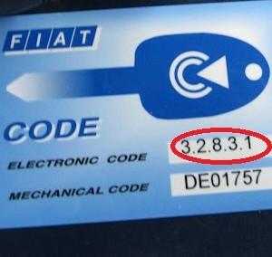 eletronic code fiat